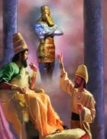 Estatua de Daniel y Nabucodonosor